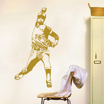 Wall Decals Sport Baseball Ballplayer Athlete Player Sports Game Sportsman Gym Interior Sporting Event Home Decor Vinyl Decal Sticker  ML120