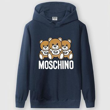 Boys & Men Moschino Casual Edgy Long Sleeve Sweater Hoodie
