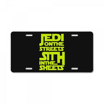 Jedi On The Streets Sith In The Sheets License Plate