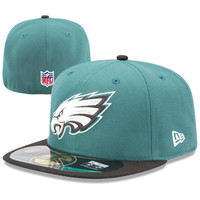 Philadelphia Eagles New Era On-Field Player Sideline 59FIFTY Fitted Hat – Midnight Green/Black