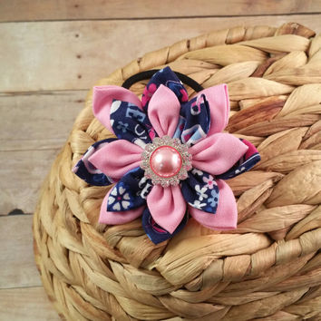 Dog Collar Flower // Breast Cancer Awareness // Wear Pink // Pet Accessory // Dog Collar Bow // Pet Bow // Hair Accessory // Dog Bow // BCA