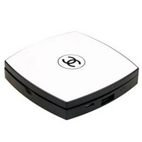 White Black CC Inspired Makeup Compact Power Bank Mobile Charger Backup Battery Pack