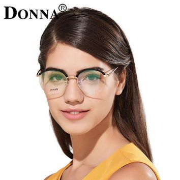 PEAPGC3 Donna Fashion Reading Eyeglasses with clear lens Optical Round Glasses Frames Glasses Women New TR90 Frame Reading Eyeglass DN10
