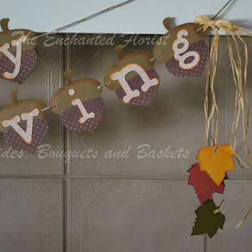 Happy Thanksgiving, happy thanksgiving banner, thanksgiving bunting. thanksgiving banner, fall decor, thanksgiving decorations,