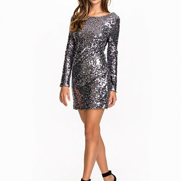 Scoop Back Sequin Dress, NLY One