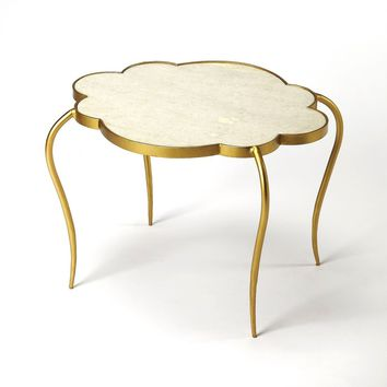 Butler Adria White Marble Bunching Cocktail Table