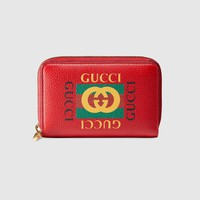 Gucci - Gucci Print leather card case