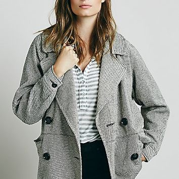 Free People Womens Oversized Car Coat