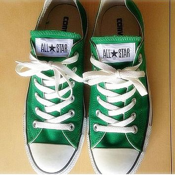 Adult Converse All Star Sneakers Low-Top Leisure shoes Green