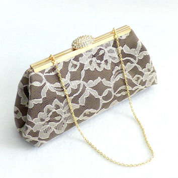 Chocolate and Champagne Wedding Clutch