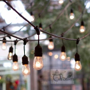 Haveduty 15M Outdoor Globe String lights Connectable Festoon Party String Christmas Holiday Garland Cafe Bar World Cup Lighting