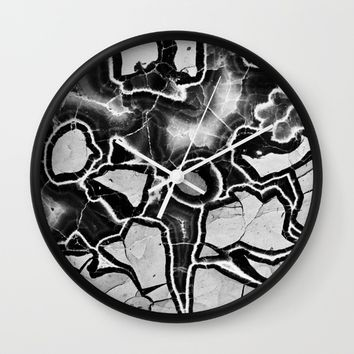 Cracked Wall Clock by UMe Images
