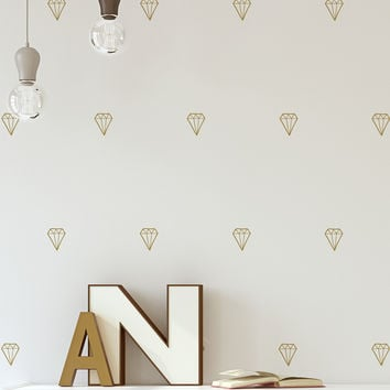 Diamond Pattern Vinyl Wall Decal Sticker #6078