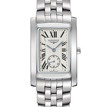 Longines Mens Dolce Vita Stainless Steel Watch