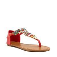 Almond Or Nothing Jeweled Sandals - GoJane.com