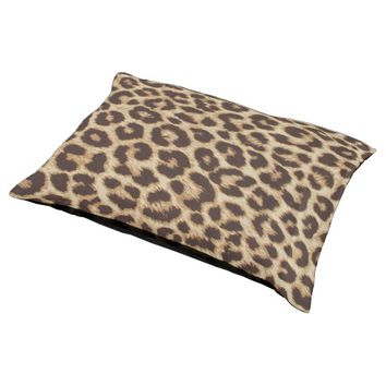 Leopard Print Large Dog Bed