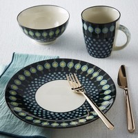 Potter's Workshop Dinnerware Set - Dark Green