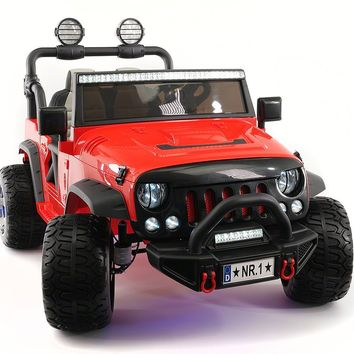 SUV 12V KIDS RIDE-ON CAR TRUCK WITH R/C PARENTAL REMOTE   RED