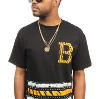 Breezy Excursion Rugby Tiger Paisley tee black