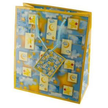 Medium Moon & Stars Gift Bag Set Of 30 Pack