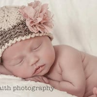Crochet Pattern for Sophia Beanie Hat - 5 sizes, baby to adult - Welcome to sell finished items