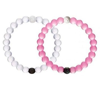Jeansweet Silicone Bracelets Bangles Mud From Dead Sea Water From Mt Everest Friendship Bracelets (White+Blue+Pink+Camo+ Red, Large)