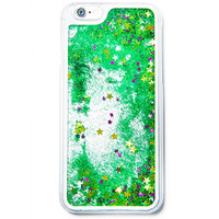 GLITTER WATERFALL IPHONE CASE GREEN