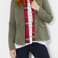 Olive Green Pocketed Utility Jacket | Anorak & Twill Jackets | rue21