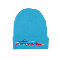 Trapstar beanie (teal) (red signature) | Trapstar Online Store