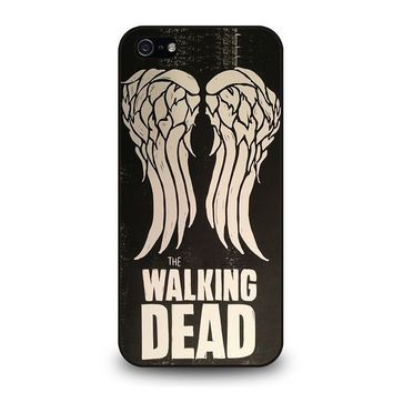 walking dead daryl dixon wings iphone 5 5s se case cover  number 1