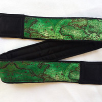 World Map Camera Strap. Vintage Camera Strap. Gift For Men
