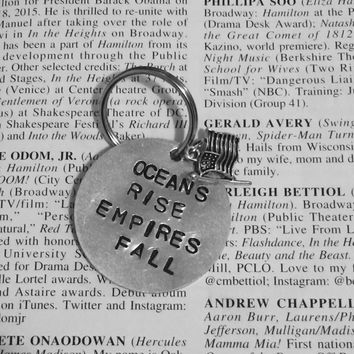 Hamilton Broadway Youll Be Back Lyrics Charm Keychain
