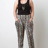 Women's Snake Tapered Pants in Plus Sizes