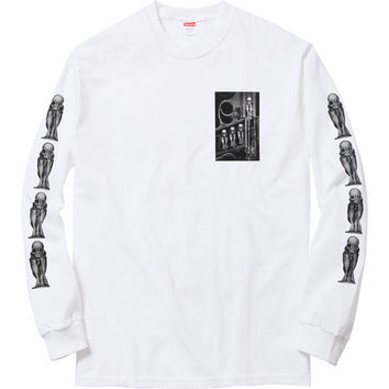 Supreme: Supreme/H.R. Giger Birth Machine L/S Tee - White