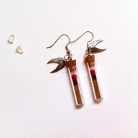 Salt & Burn Earrings - Supernatural Inspired