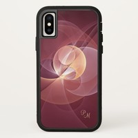 Movement Abstract Wine Red Pink Fractal Monogram iPhone X Case