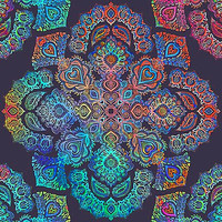 rainbow blacklight neon fractal floral pattern trip by SourKid
