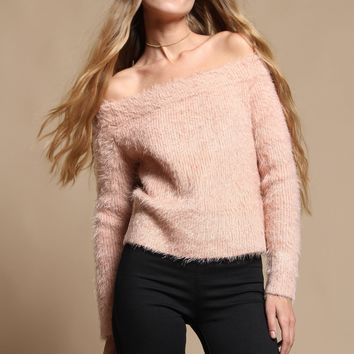 MINKPINK Florentine Off The Shoulder Sweater