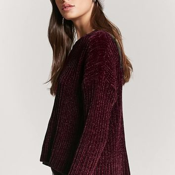 Ribbed Chenille Sweater