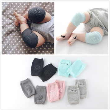 6-24M Baby Knee Pads Crawling Protector Cotton Kids Kneecaps Children Short Cartoon Baby Grils Boys Leg Warmers 2016 New Fashion