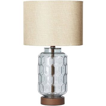 Better Homes & Gardens Geo Textured Glass Table Lamp - Walmart.com