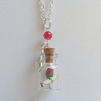 Favorite Song Lyrics Bottle Miniature Food Necklace by NeatEats