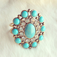 Pree Brulee - Turquoise Gypsy Rocker Cuff