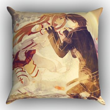 Asuna and Kirito Sword Art Online X0998 Zippered Pillows  Covers 16x16, 18x18, 20x20 Inches