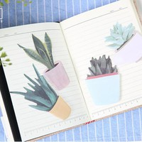 30Sheet/Pcs Kawaii Potted Plants Diary Notebook Memo Pad Notes Post It Kawaii Planner Scrapbooking Stationery School Supplies