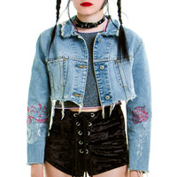 Vintage Denim Hippie Cowgirl Jacket - XS/S