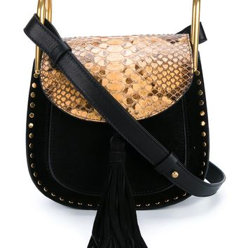 CHLOÉ | Mini Hudson Studded Suede & Python Bag | Womenswear | Browns Fashion