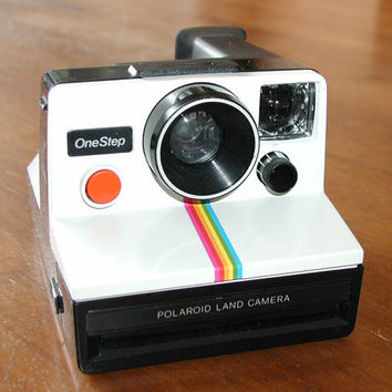 Polaroid OneStep Land Camera  Vintage Instant by SunsetSideVintage