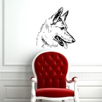 GERMAN SHEPHERD DOG STYLISH DESIGN WALL VINYL STICKER  DECALS ART MURAL G265