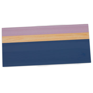 "KESS Original ""Spring Swatch - Blue Lavender"" Purple Wood Desk Mat"